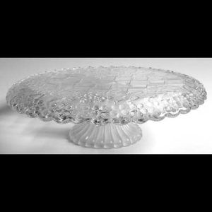 Napoli Crystal Pedestal Cake Stand, frosted flower
